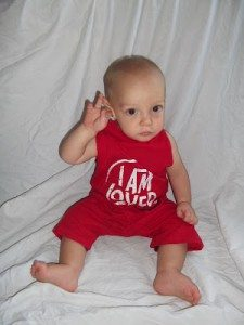 baby onsie from an old t-shirt