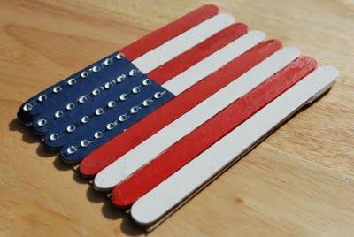 popscicle stick american flag