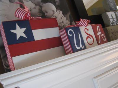 2x4 american flag blocks