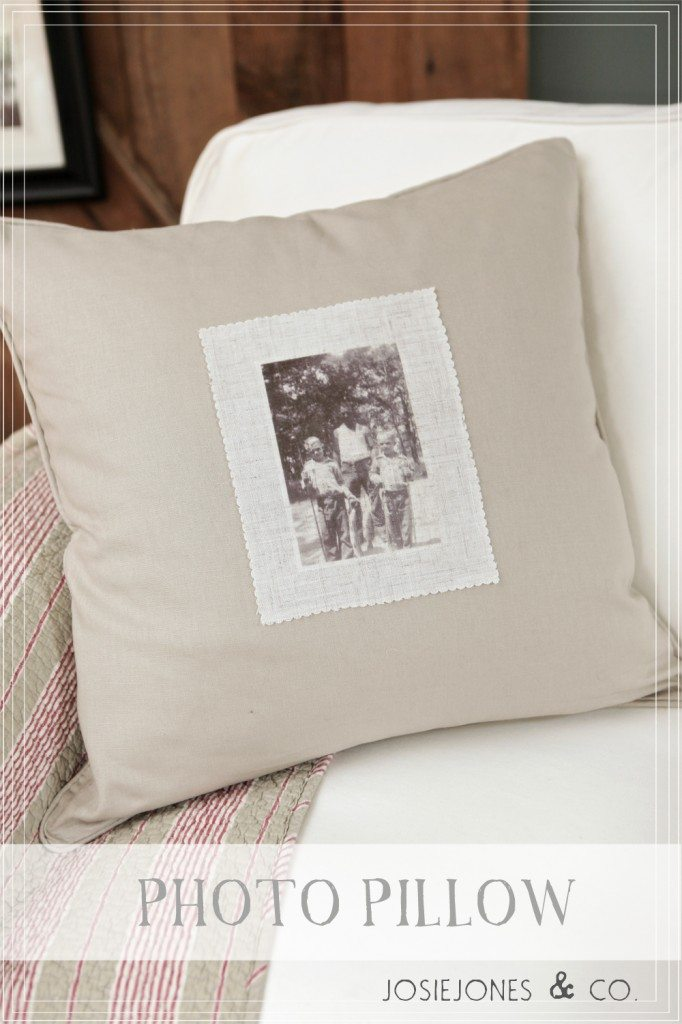 iron on photo pillow