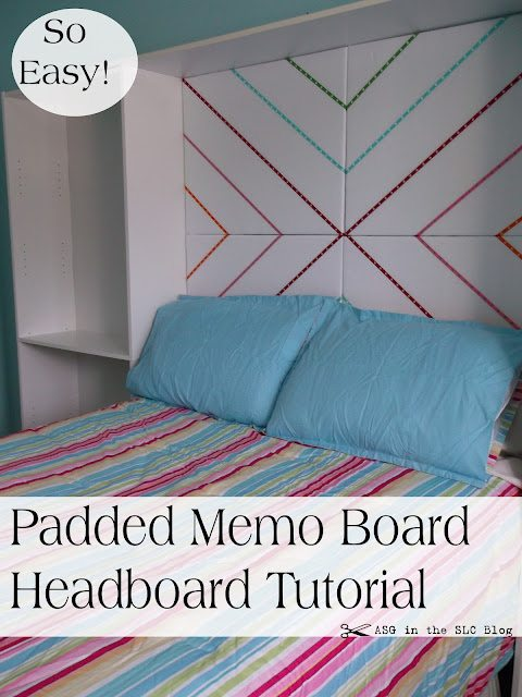 headboard made out of canvas and ribbon